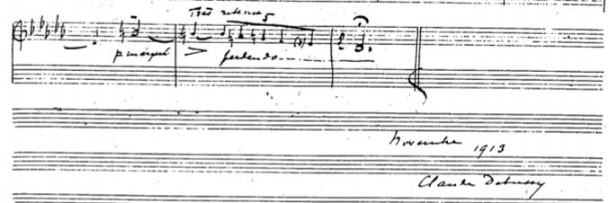 Debussy - Syrinx Handwritten