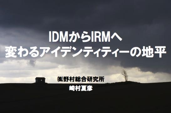 IDMからIRMへ